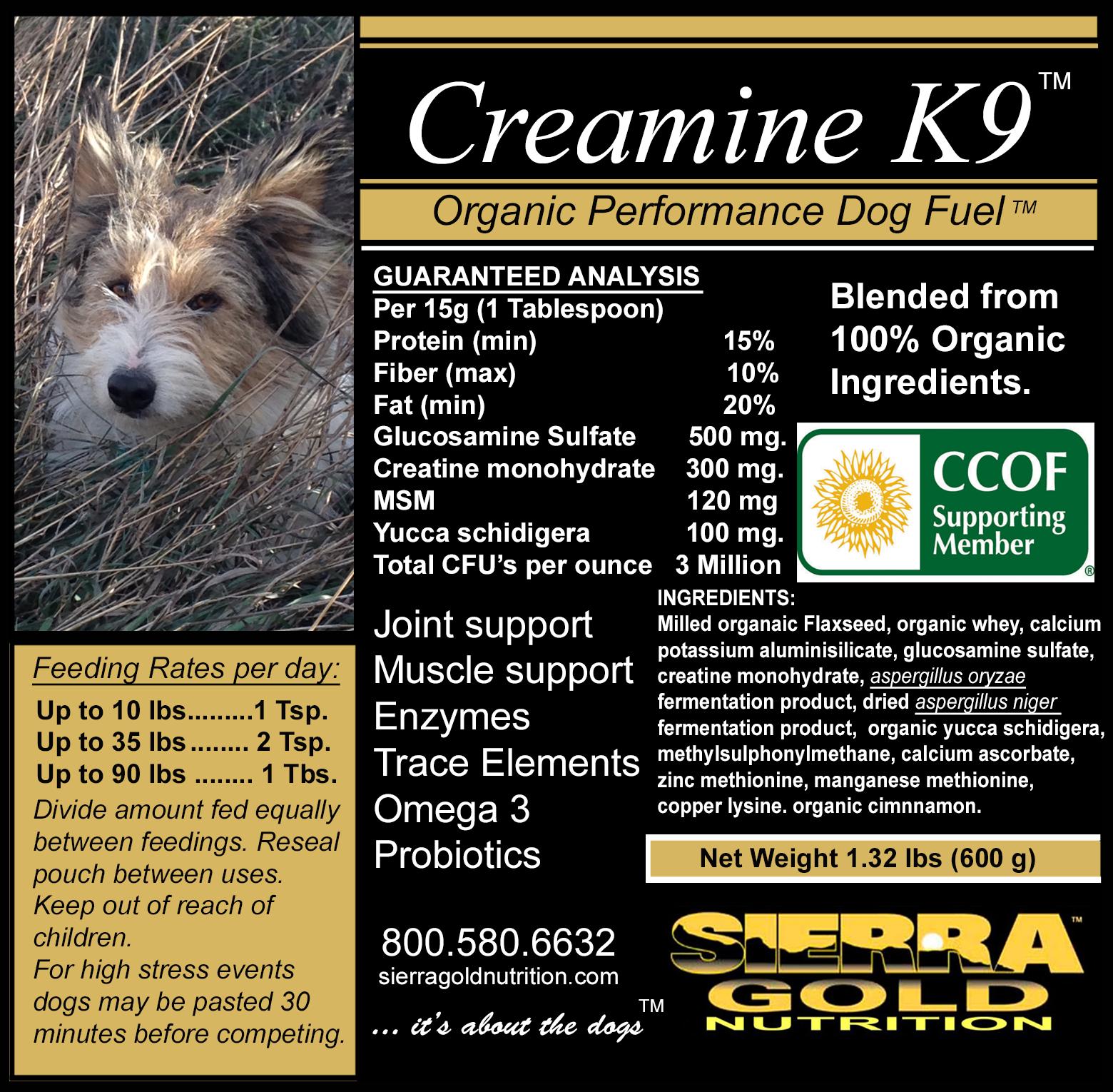 Sierra Gold K9 Creamine