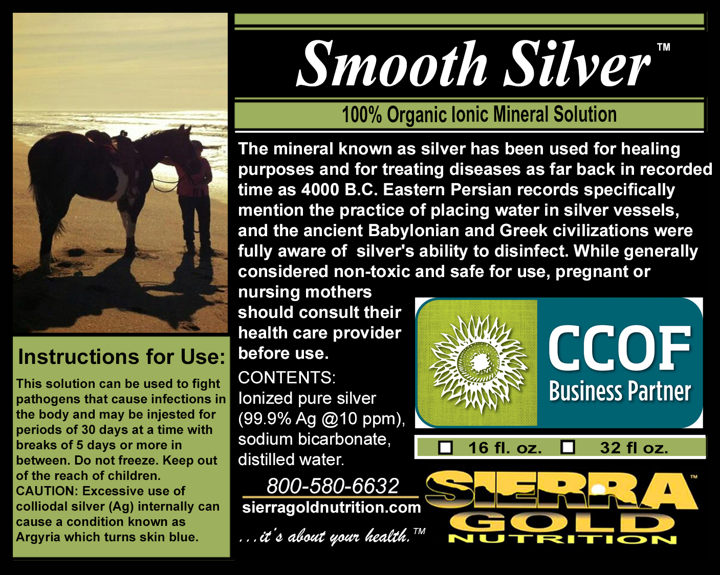 Smooth Silver 100% Organic Ionic Mineral Solution