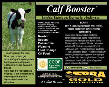 SGN Calf Booster Organic