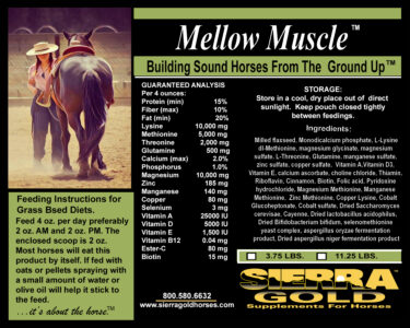 SG Label Mellow Muscle Grass